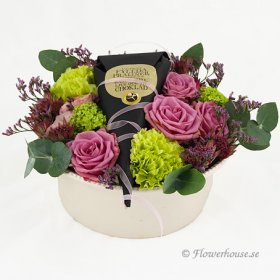 Purple Power - Blomsterdekorationer - Skicka blommor med blombud - Flowerhouse