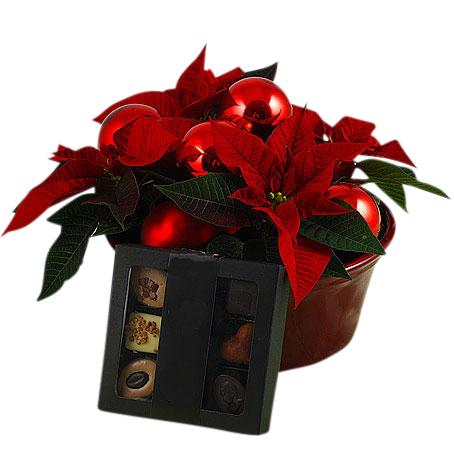 skicka blommor choklad
